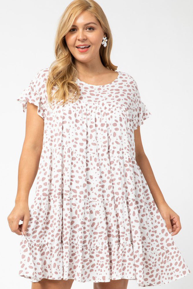 Plus Babydoll Animal Spot Dress