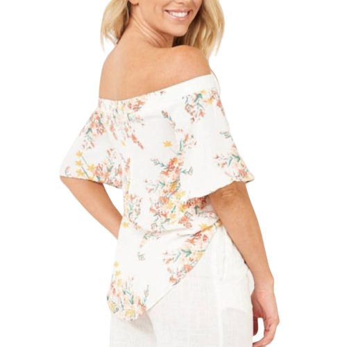 Kyoto Off the Shoulder Top White