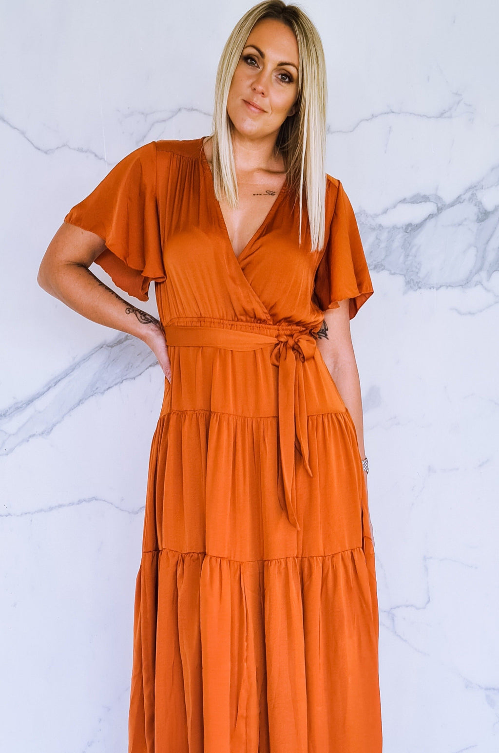 Faith Maxi Dress - Rust