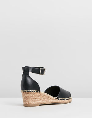 Helene Leather Wedge Heel