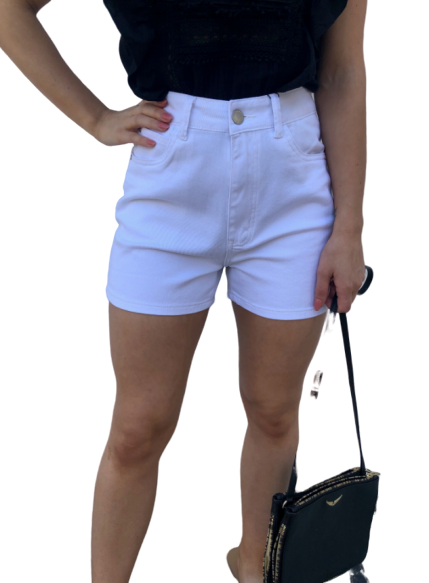Country Denim Shorts White