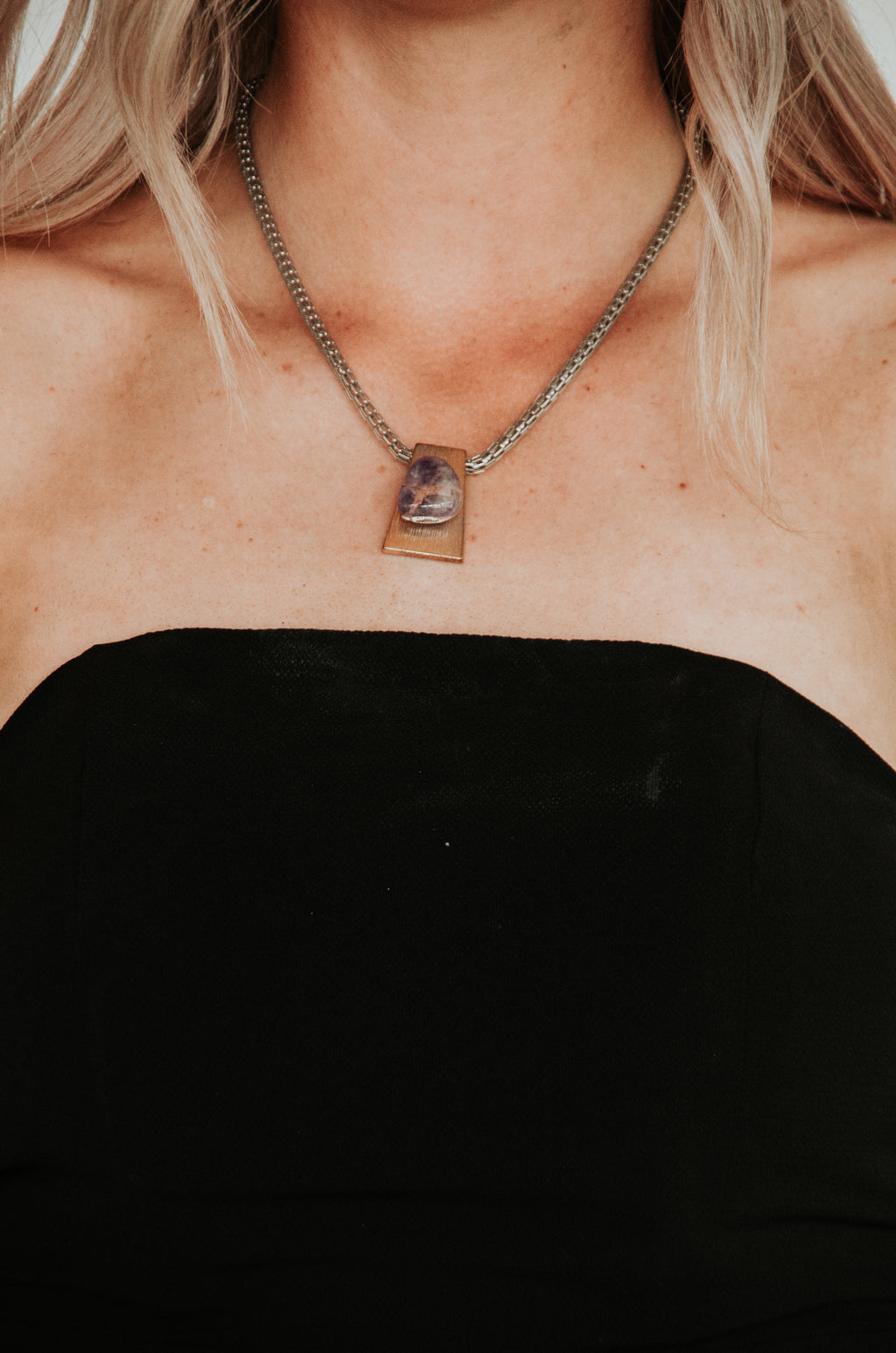 Amethyst Two-Tone Chain