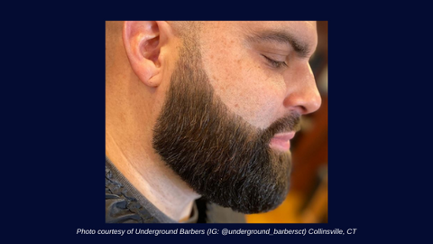 Photo courtesy of Underground Barbers (IG: @underground_barbersct) Collinsville, CT
