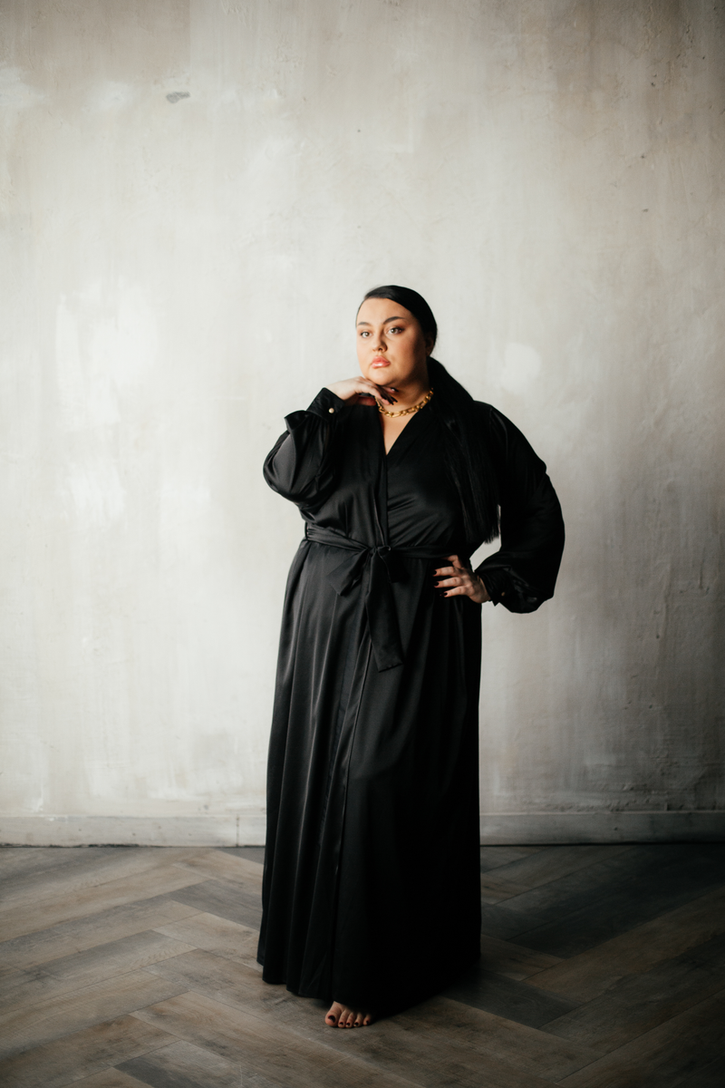 Silk Long Robe - Okiya Studio | Sleepwear, Homewear, Lingerie, Home Textiles