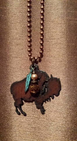 Picture of Rustic Buffalo Pendant Necklace