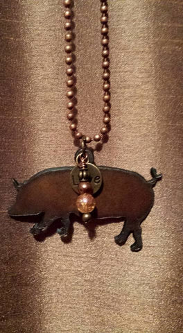 Picture of Rustic Pig Pendant