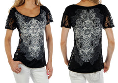 Racy Lacy Fashion Lace Top in Black