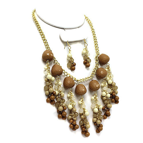 Picture of Chandelier Cowgirls Western Beaded Necklace Earring Set
