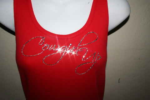 Picture of Cowgirl Up Red Tank Top
