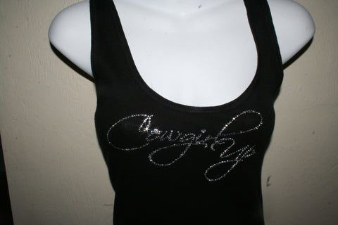Picture of Cowgirl Up Western Black Tank Top