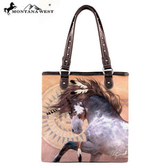 Horse Art Canvas Tote Bag