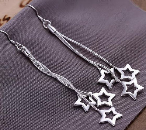 Picture of Sterling Plated Star Earrings