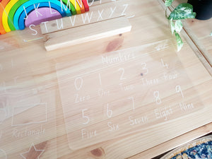 Alphabet, Numbers & Shapes Set - Trace & Wipe Boards