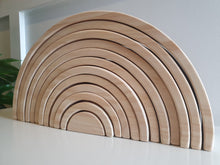 Load image into Gallery viewer, Natural Wooden Rainbow