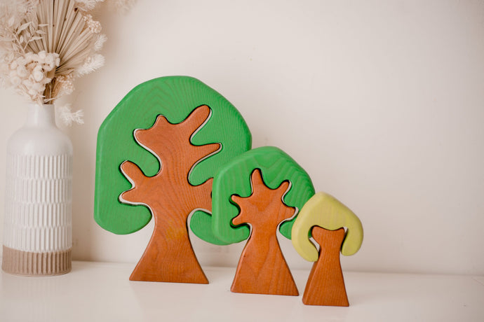Coloured Wooden Trees