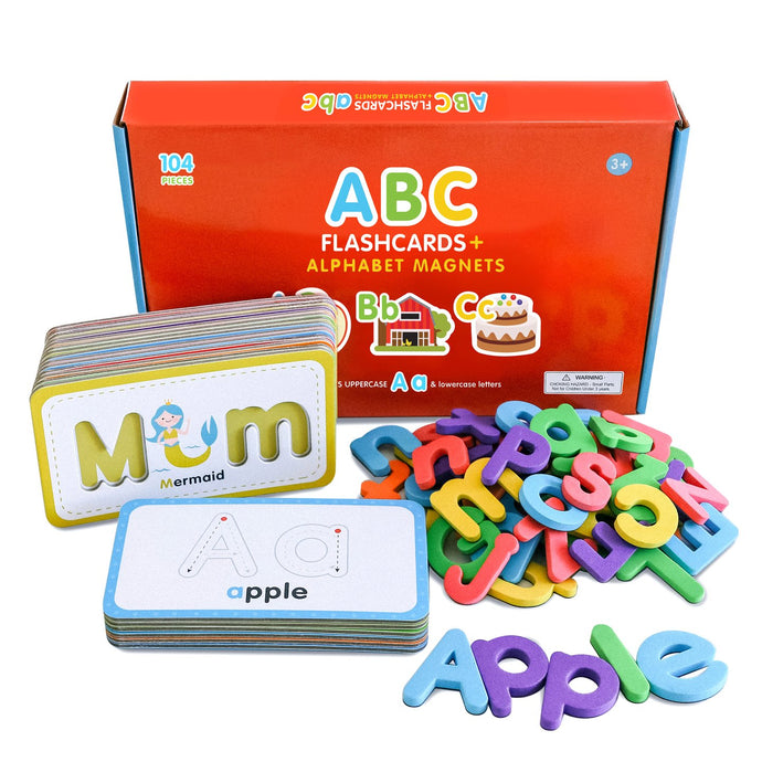 ABC Flashcards & Magnetic Foam Letters