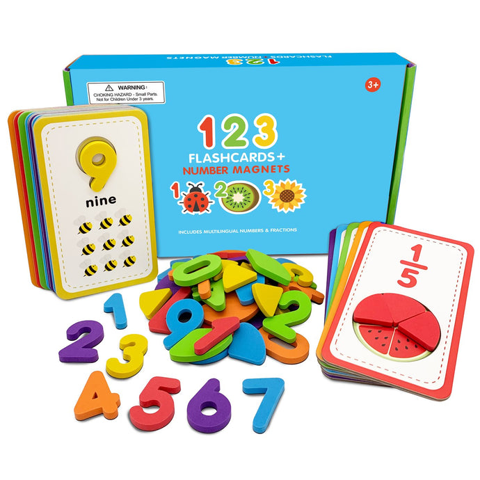 123 Flashcards & Magnetic Foam Numbers
