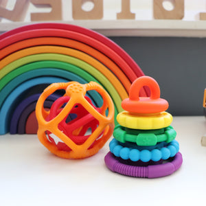 Rainbow Stacker and Teether Toy - Rainbow Bright