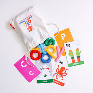 ABC Sensory Learning Felt Alphabet & Flashcards - Lowercase