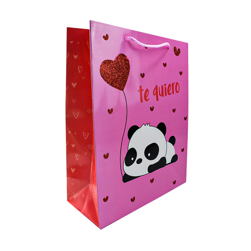 Bolsa decorada para Regalo con Diamantina Panda