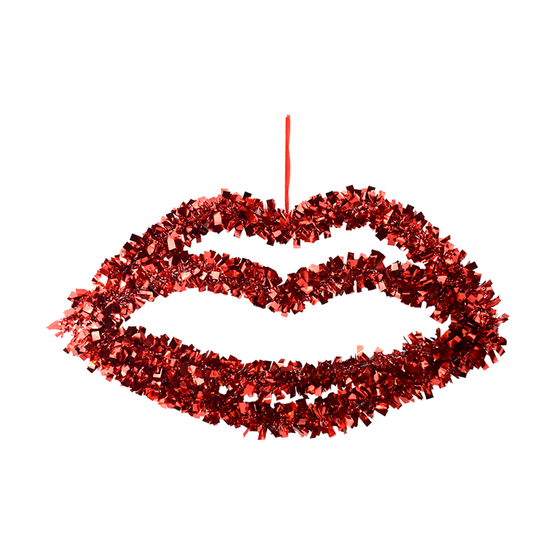 Labios decorativos de Tinsel