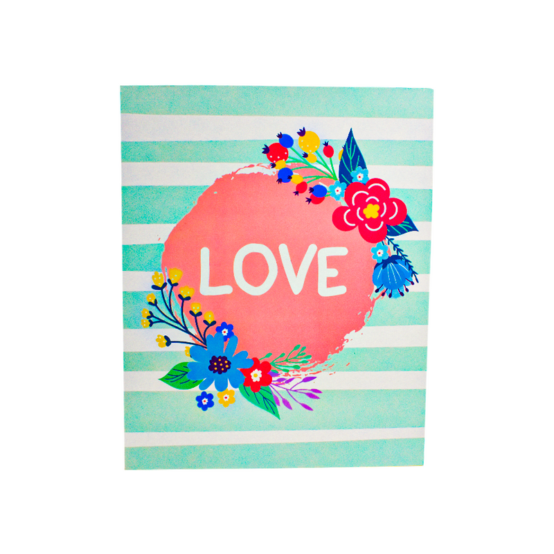 Letrero MDF Decorado 20 x 25cm LOVE