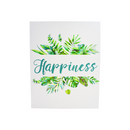 Letrero MDF Decorado 20 x 25cm HAPPINESS