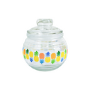 Frasco de cristal decorado Inkanto 530ml