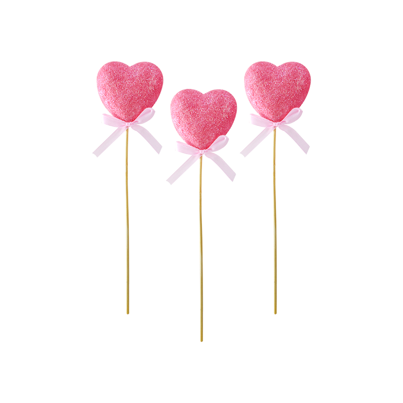 Set de 3 Corazones decor color Rosa