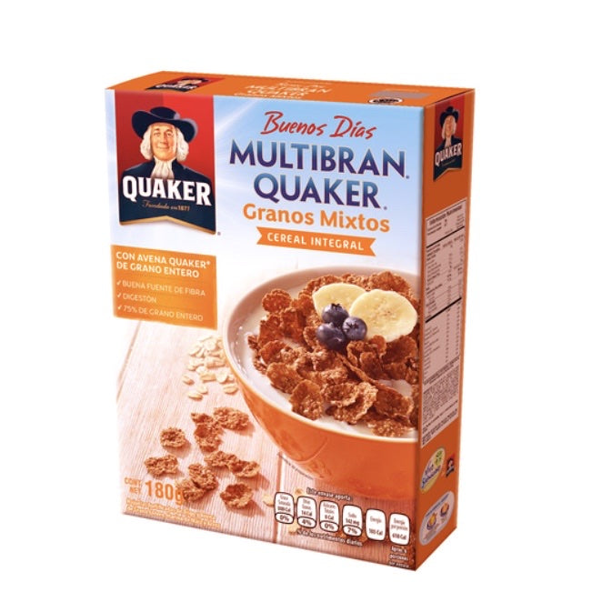 Cereal Integral Quaker Granos Mixtos 180g (4640458178609)