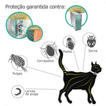 Coleira Natural Antipulgas para Gatos