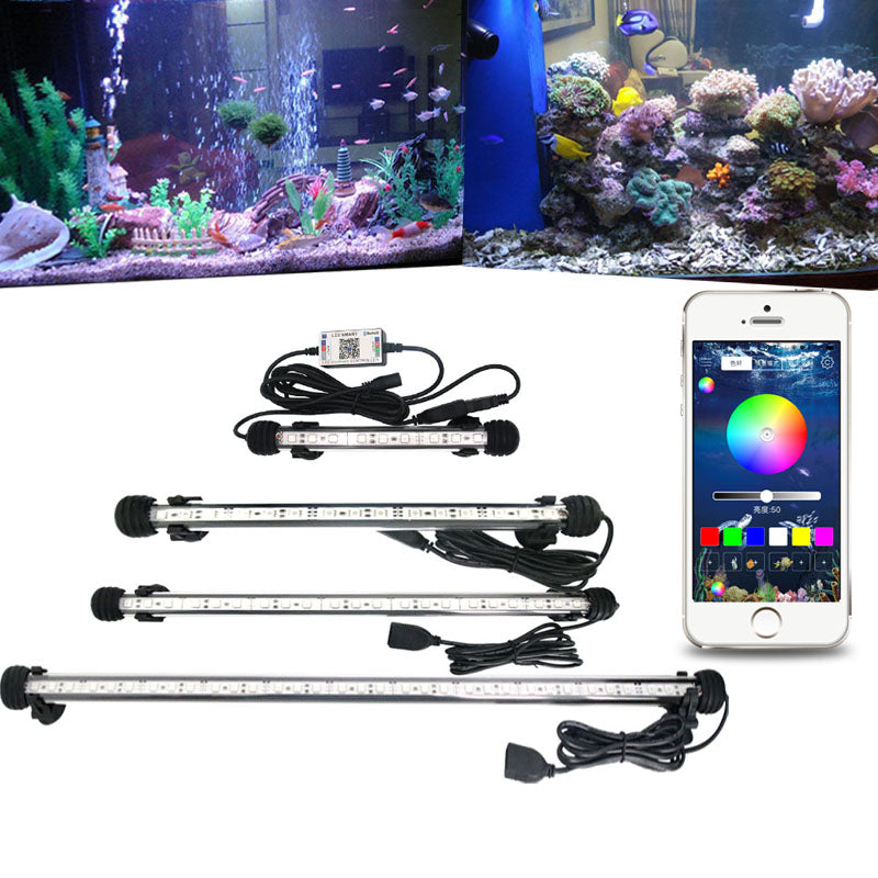 Magic Aqua Led Luz De Iluminacao Colorida Para Aquario Controlada Pe Artigos Pet