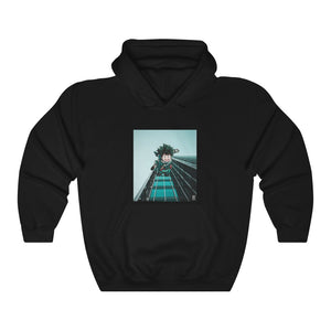 Midoriya x Skyscraper Edit Unisex Heavy Blend™ Hooded Sweatshirt