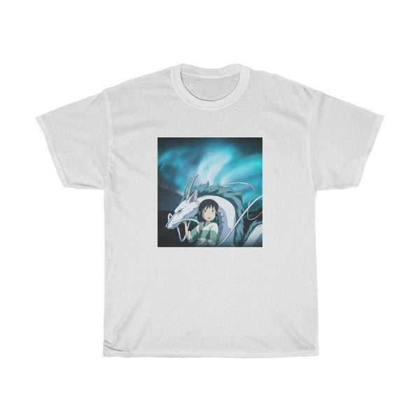 Chihiro x Haku x Northern Lights Edit Unisex Heavy Cotton Tee