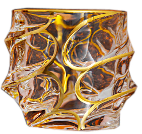 Twist Whiskey Glass Unique Elegant Old Fashioned Whiskey Glass#7