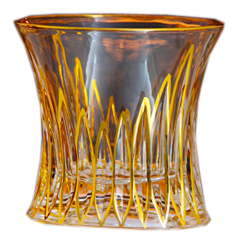 Twist Whiskey Glass Unique Elegant Old Fashioned Whiskey Glass#11