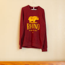 Load image into Gallery viewer, Burgundy Logo Sweatshirt