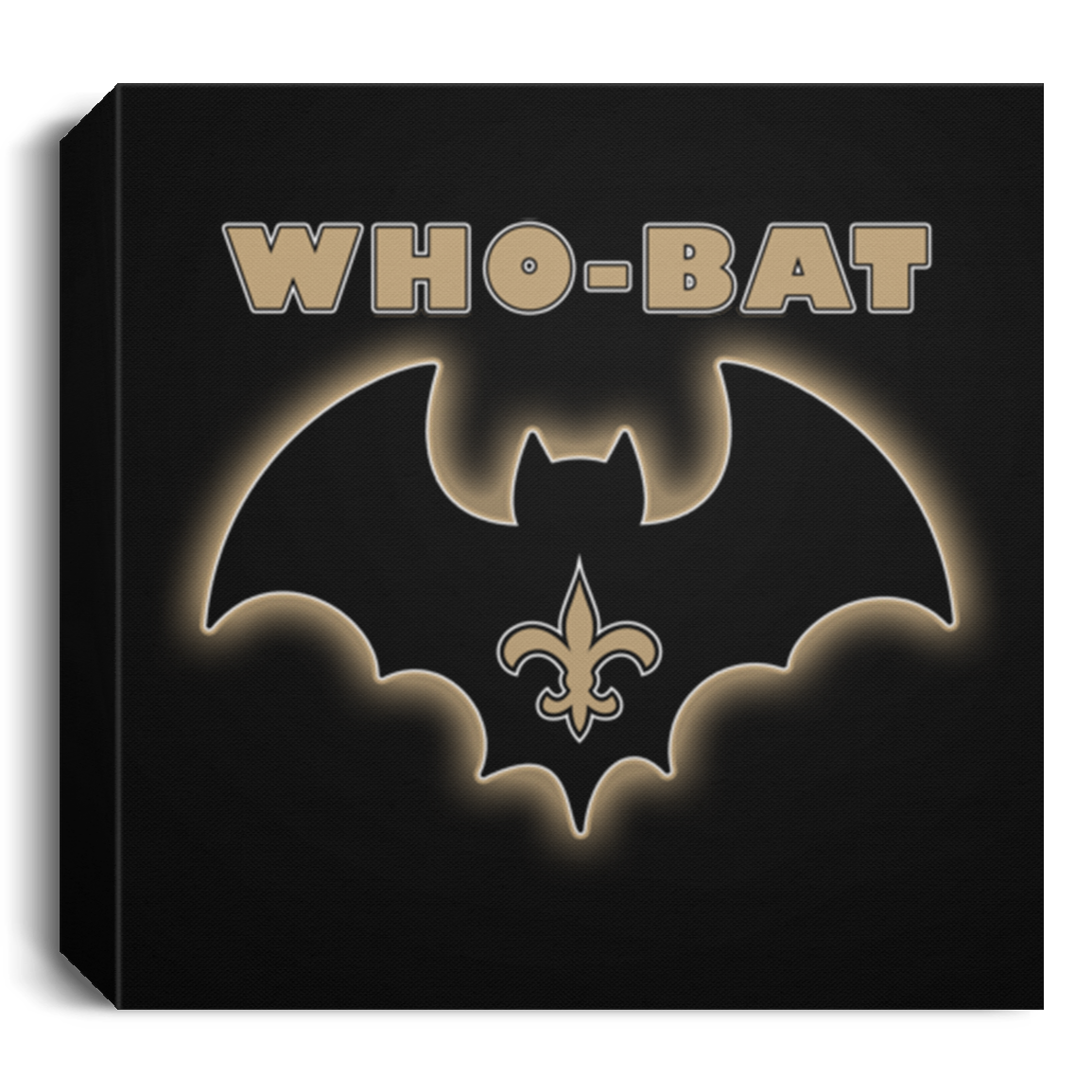 WHO-BAT - DELUXE FRAMED CANVAS