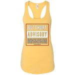 BUTTHURT ADVISORY - RACERBACK TANK TOP