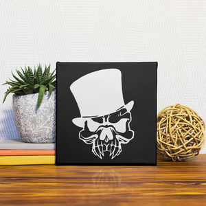VAMPIRE STREET THEATRE SKULL LOGO - VERSION A - DELUXE FRAMED CANVAS