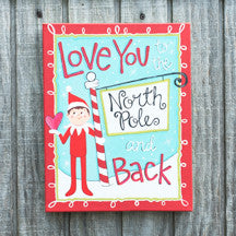Elf North Pole and Back Canvas
