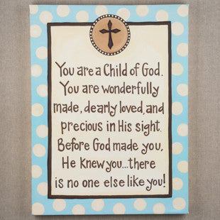 Child of God Blue Canvas by Glory Haus