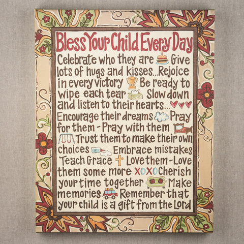 Bless Your Child Canvas by Glory Haus