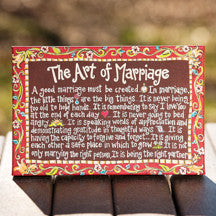 Art of Marriage Table Top Canvas