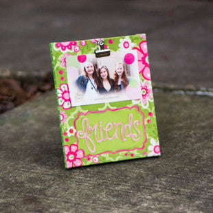 Friends Clip Frame Pink and Green