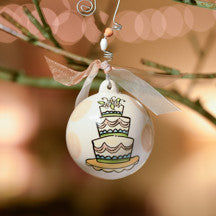 Wedding Cake Ball Ornament by Glory Haus