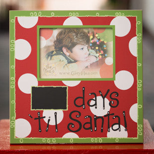 Days 'Til Santa Frame by Glory Haus