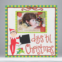 Elf Days Til Christmas Frame