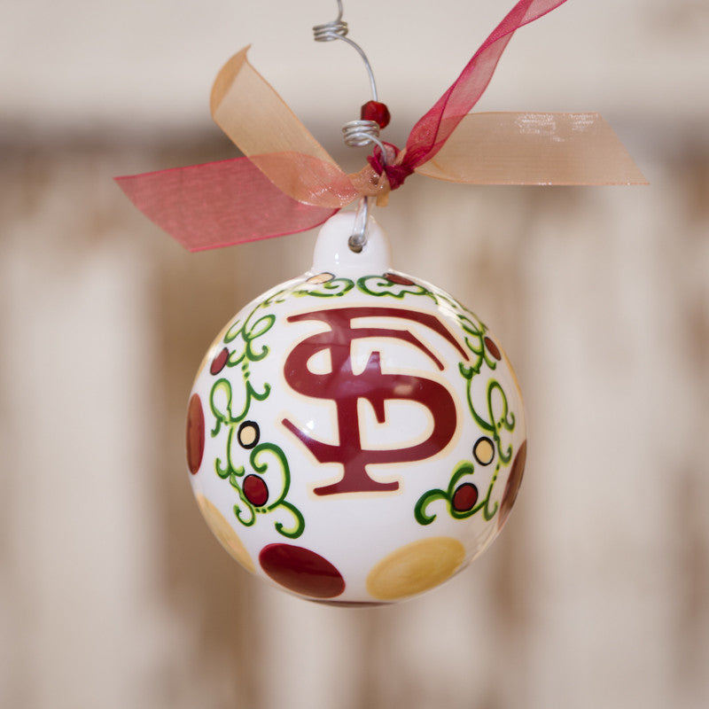 Florida State Ball Ornament by Glory Haus