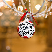 Georgia UGA Ball Ornament